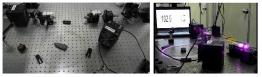 100 W급 연속광 시스템 시제품 형상