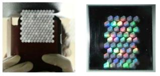 금속 표면의 연속적인 3-beam interference 패턴