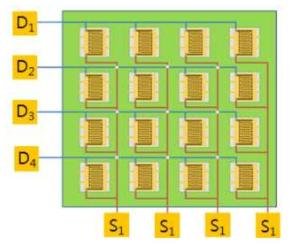 4×4 센서 어레이 구조 설계