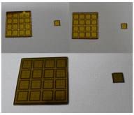 제작된 16 x 16 센서 어레이 칩