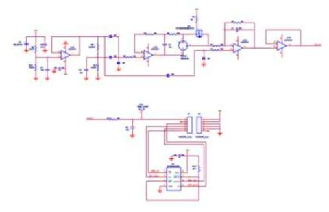 시험용 전기화학식 CO 센서 모듈 회로도