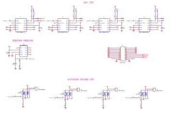 복합센서 플랫폼 시스템 제어 회로도 (ADC, Actuator driver)