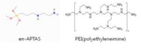 en ?APTAS와 PEI의 화학식 비교