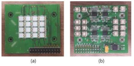제작된 4×4 센서 어레이 모듈의 사진