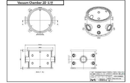 측정챔버 2D 설계도