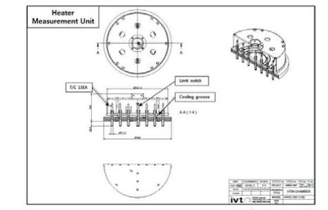 온도센서 모듈 2D 설계도