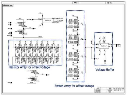 Offset voltage control 회로도