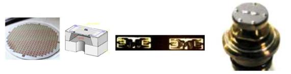 웨이퍼 상의 bulk MEMS 압력소자, 단품 MEMS 저항체 및 센서 구조