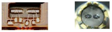 와이어 접합된 Bulk MEMS 소자 및 압력셀 구조