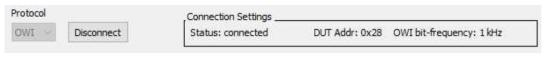 연결 완료된 상태(Connect 버튼 Disconnect로 변경됨)
