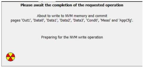 NVM 작성 전 Memory 준비화면