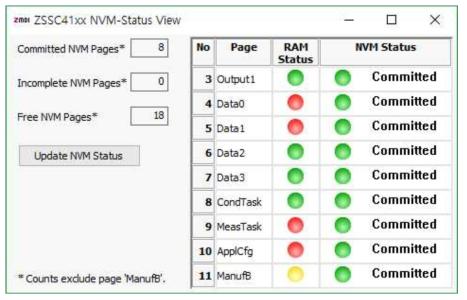 NVM Status 창