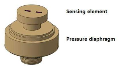 금속 다이아프램을 이용한 압력센서의 구조