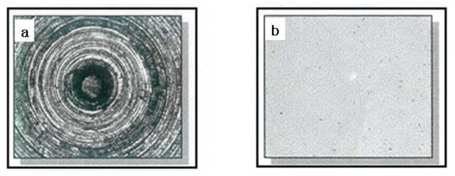 다이아프램 표면 가공전과 후의 광학현미경 분석자료
