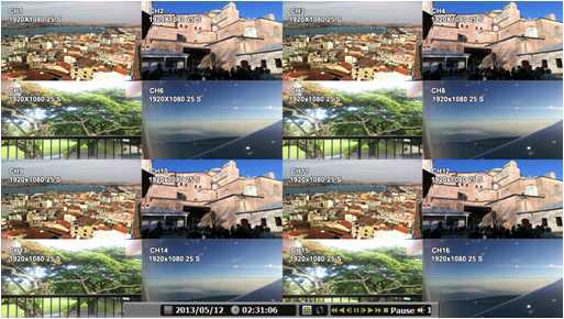 DVR프로그램 - 라이브 정체 화면