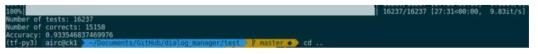 Expert Method 성능 측정 화면