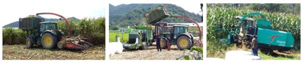 자주식 일체형 수확기 이용 체계