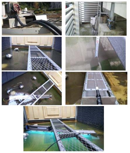 침지형 자외선 소독 시스템 현장 설치 및 가동 사진