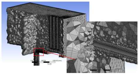 안산 노적봉 3D 모델 및 관련 격자 생성