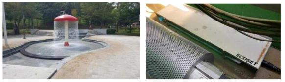 반월 공원 및 저류조 내 소독 시스템 설치 사진