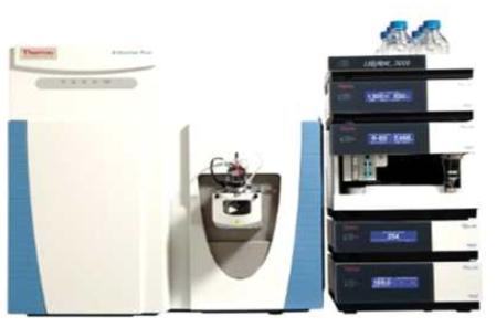본 연구에 사용한 Liquid Chromatography(우) 장비와 Mass spectroscopy(좌) 장비