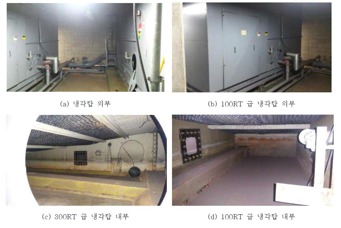 인천시 지하철 냉각탑 현장 조사 사진