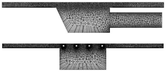 CFD 해석에 사용된 격자 구성