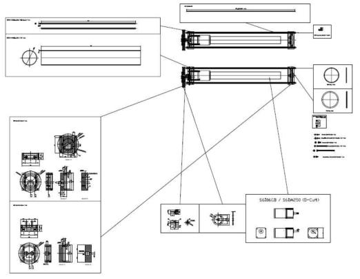 침지형 자외선 소독 시스템 설계 도면