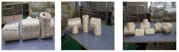 우창 Higel Fiber 시제품 샘플 사진