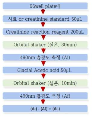 크레아티닌 분석 과정