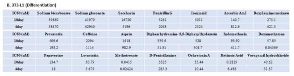 3T3-L1 cell 약물 노출일수 10일과 4일 비교