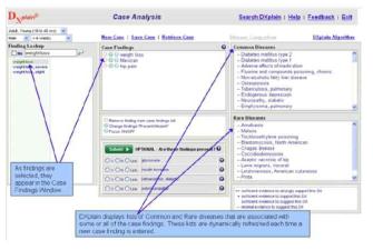 DXplain interface