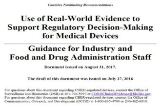 RWE의 사용에 대한 FDA 가이던스
