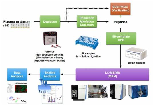 본 과제를 통해 개발된 MRM MS 분석을 통한 정도관리 분석 프로토콜
