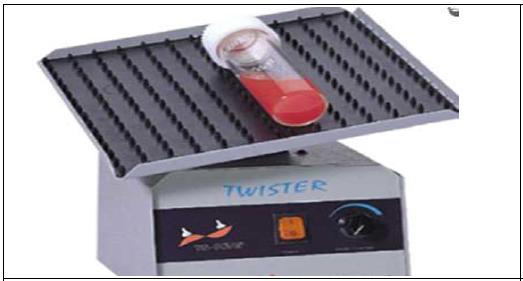 트위스터를 이용하여 상온에서 10분간 반응