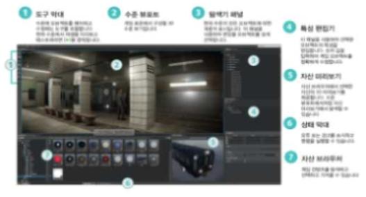 Stingray VR 편집 화면