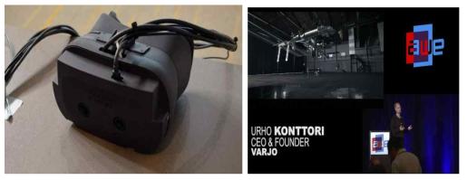 Varjo의 Bionic Display Headset 제품 시연 및 제품 활용 발표 (Varjo社)