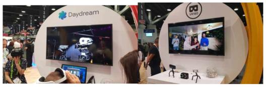 Daydream view 장치 시연 (구글社)