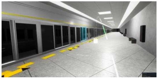 플랫폼의 승강장안전문 평가 준비 화면
