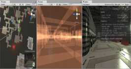 Occlusion Culling 작업 화면 (Unity 3d社)