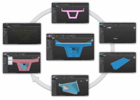 3D CAD 기반 모델링