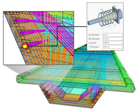 보강재 파라메트릭 모델링 및 대규모 객체 렌더링