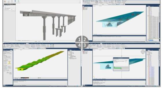 3D 정보 모델의 midas Civil 연동 및 해석