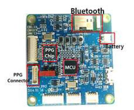 개발 완료된 PPG 측정 모듈