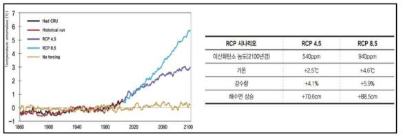 2013 IPCC report (세계 기후변화예상 시나리오)