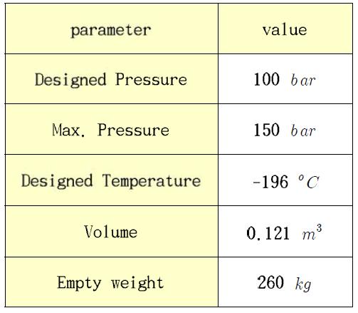 액체 산소 공급 탱크 제원