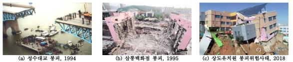 최근 발생한 대형구조물의 재난 사례