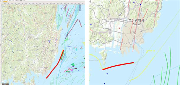 Shallow-water seismic survey data acquired from the southeastern coast of the East sea