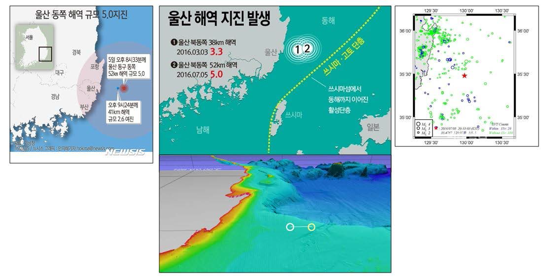 Earthquake occurrence near the coast of Ulsan and strike-slip fault with some reverse fault features