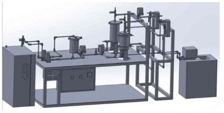 가스 및 온수 축열 성능실험 장치